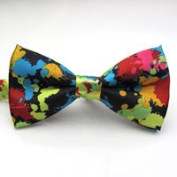 Printed  ink effect tie,Korean men & women bow-tie wedding tie banquet tie , free shipping wholesale  yh8068
