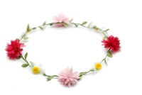 Multicolor Sweet Garland hawaii lei Bridal wreath Headdress Marriage hair accessories Wedding dress accessories headwear