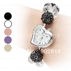 2013 NEW coming Women's Adjustable Band Style Plastic Analog Quartz Bracelet Watch fashion montre stylish hours gift(Hong Kong)