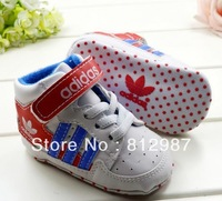 Free shipping wholesale 2013 fashion chic energic youthful high top white sports shoes style  BB shoes/prewalkers