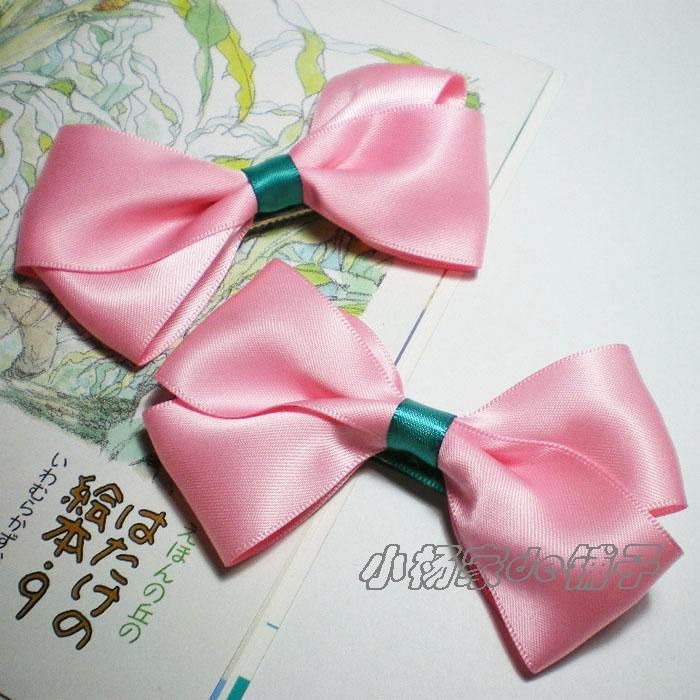 Free Shipping! Children/kids Girls Pink Bowknot hairpin. Christmas headwears. Handmade high quality. 10pcs/lot.(China (Mainland))
