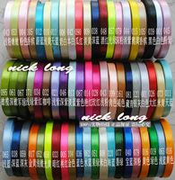 U Pick! Quality! 10mm 100yds (25yds x 4pcs) Multicolor single face Satin Ribbon/webbing decoration  with 56 Colors for option