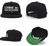 High Quality COMME DES FUCKDOW Hat Hot Sale Boss Hip Hop Hat Men Baseball Cap Wholesale Cheap Price Snapback Hat