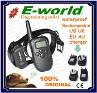 Very Hot selling  vibra remote electric dog training collar 300m remote control outdoor pet training collar with LCD display