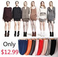 Fashion candy  slim hip girl's skirt  elastic 100% cotton skirt a bust ruffle short skirt  high waist skirt