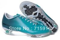 2013 new Jade Blue / White soccer shoes,Carbon fiber TPU football shoes    size:eur 39-45