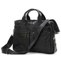 Hot Sell 100% genuine Vintage leather Shoulder Bag  Man genuine Laptop Messenger Bags
