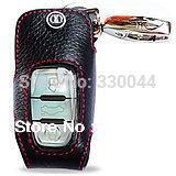 2014 new arrival ADDAN Genuine Leather Car Key Fob Cover Key case wallet for Audi smart key Q5 A8L A4L A4 A5 A7 A8 A6L 2012