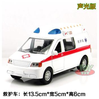 2013 Child little boy toy 120 ambulance WARRIOR alloy car model alarm siren plain