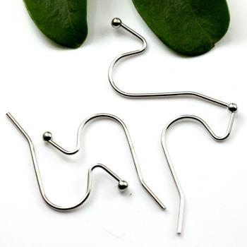 15mm Silver plated jewelry earring findings,earring hook coil ear wire Earrings,Free Shipping!