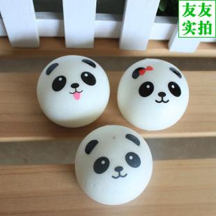 Retail Kawaii Panda Couple Squishy Cell Phone Charm