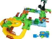 Free shipping Toy car 65 magicaf belt crane double jackknifed electric train 11
