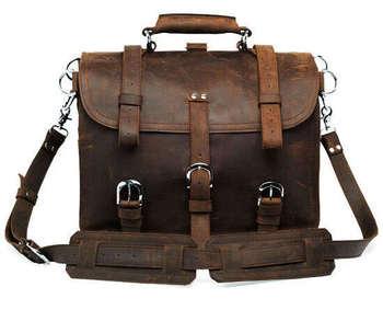 Free shipping!!brown high quality genuine cowhide leather casual man bags men's handbags bag shoulder bags Messenger Bag 7072