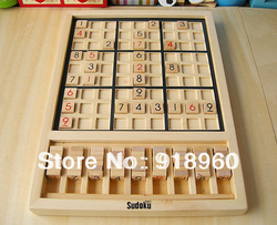 Sudoku game adult and Children intelligence toys wooden board wooden Sudoku game 0.7kg(China (Mainland))