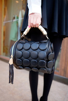 Women's handbag 2013 ! button decoration portable women's handbag zipper button tassel pillow pack