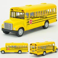 free shipping 3 piece Soft world 13-year-old bus school bus WARRIOR alloy car model