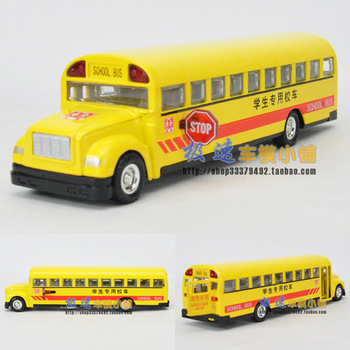 free shipping  Classic school bus acoustooptical WARRIOR alloy car model