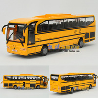 free shipping 3 piece Ultralarge paragraph the door school bus big bus acoustooptical WARRIOR alloy car model