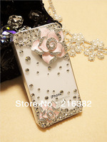 Rose Rhinestone 3D Bling Phone Accessory For iPhone 5 Shell Protective Phone Case Free Shipping