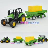 free shipping 3 piece Farm tractor series transport truck gift box alloy car model