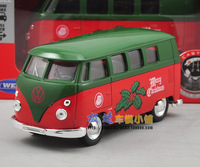 free shipping  The box Wiley public Christmas coating classical warrior bus alloy model cars