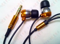 Free shipping Earphone With Microphone Speaker For iPhone Smartphone MP3 iPod 3.5mm Metal Earphones Headphone MIC