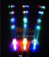 Flashing fiber optic stick electronic neon stick led e-rod fans stick