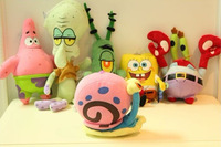 Mini soft plush toy set spongebob Patrick Star Squidward Tentacles toys with Sucker kid's gfts 6pc/set=$29.90