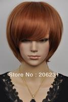 Nice short straight Light Auburn hair wigs wig Free shipping