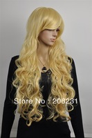 2013 New Beautiful Long wavy  blonde hair wigs wig Free shipping