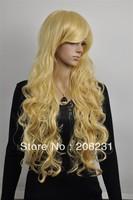 2013 New Beautiful Long wavy  blonde hair wigs wig Free shipping