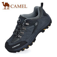 Autumn and winter camel men's shoes casual genuine leather outdoor shoes hiking shoes sports shoes male thermal cotton-padded