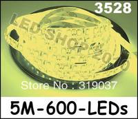Cheap 1 x 5M Warm White 3528 SMD Waterproof Flexible Strip 12V 120LEDS M 600 LEDs