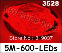 5M Car Red 3528 SMD LED Waterproof Flexible Strip 12V 600 LEDs