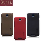 3color,Nillkin anti-fingerprint super shield shell case for HTC one S Z520e/z560e,with free screen protector+retail package