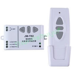 3-Way Wireless RF Wall Switch w/ Remote Control for Projection Screen(China (Mainland))