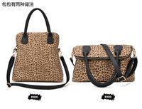 Free shipping New Arrival Leopard large bag 2013 new leather bag Shoulder Bag