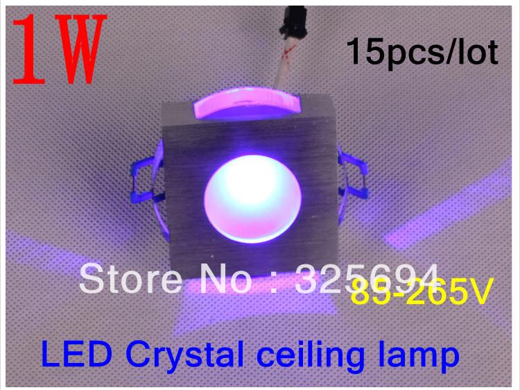 Cristal varíola 1 w lente levaram cores led lâmpada sentado fundo sala de lâmpada de parede 85 - 265 V 15 pçs/lote + grátis frete(China (Mainland))
