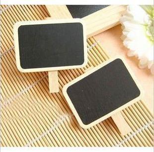 factory price Bulk Korean Mini wooden Blackboard Cute chalkboards paper clips message board Free shipping CPAM