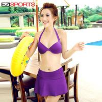 Hot spring female swimwear a b small steel push up bikini dress ezi3073 free shipping