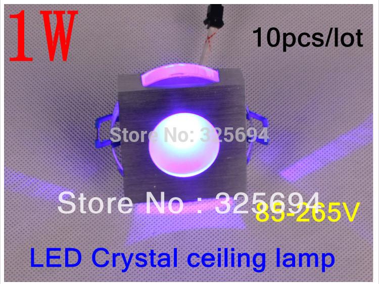 10 pçs/lote cristal varíola 1 w lente levaram cores led lâmpada sentado fundo sala de lâmpada de parede 85 - 265 V + grátis frete(China (Mainland))