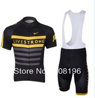 2013 Live Black Unisex new Styles Free Shipping Hot bike bicycle clothing Team cycling Jersey&Bib Short D2049
