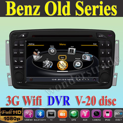 Car DVD Player autoradio GPS Benz W203 Viano W168 CLC209 W209 W463 + 3G WIFI + V-20 Disc + 1GB cpu + DDR 512M RAM + A8 Chipset(China (Mainland))