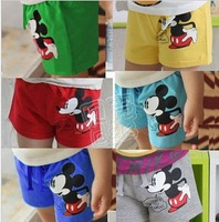 FREE SHIPPING girl's boys  children's  kids Clothing  baby summer clothes pants shorts mickey