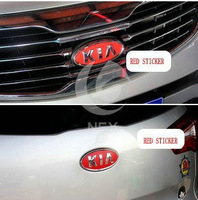 Freeshipping KIA RIO car Head+internal+tail 3piece/SET red stickers or 3d carbon stickers Car Accessories for KIA RIO