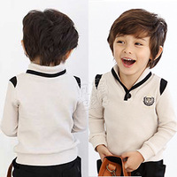 free shipping 2013 spring royal boys girls clothing child long-sleeve T-shirt  basic