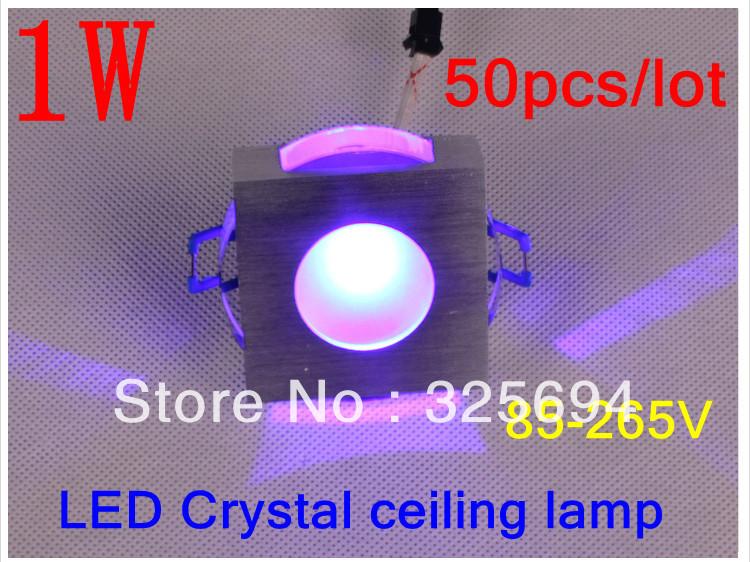Cristal varíola 1 w lente levaram cores led lâmpada sentado fundo sala de lâmpada de parede 85 - 265 V 50 pçs/lote + grátis frete(China (Mainland))