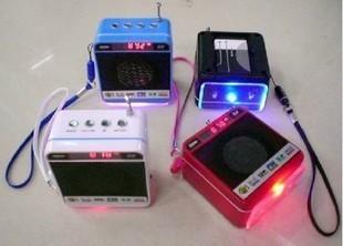 Ws-918 multifunctional card speaker portable audio card pm3 player band radio display screen