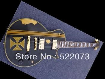 custom James Hetfield Iron Cross Aged Electric Guitar ebony fingerboardChina Guitar