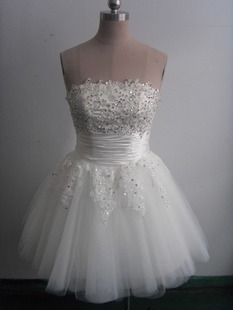 Star bride and bridesmaids dress lace wedding dress short design 2012 new arrival(China (Mainland))